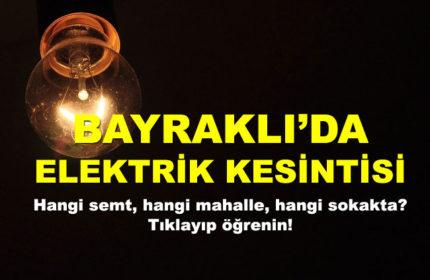 Bayraklı İlçesinde Elektrik Kesintisi