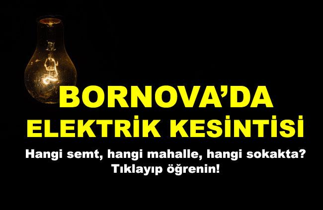 Bornova'da Elektrik Kesintisi