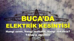 Buca'da Elektrik Kesintisi