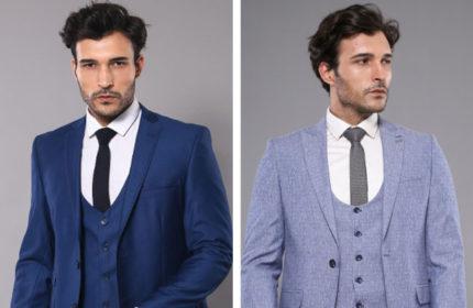 Özel Giyinen Erkeğin Giyim Şekli Yelekli Takım Elbiseler