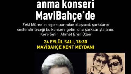 Zeki Müren'i Anma Konseri MaviBahçe'de